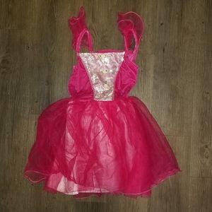 New! Girls Princess Pink Dress halloween costume